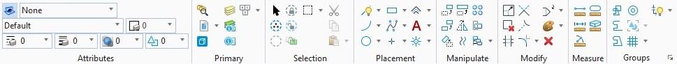 Grupy narzędzi w MicroStation CONNECT