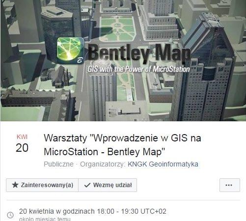 """Warsztaty """"Wprowadzenie w GIS na MicroStation - Bentley Map"""""""